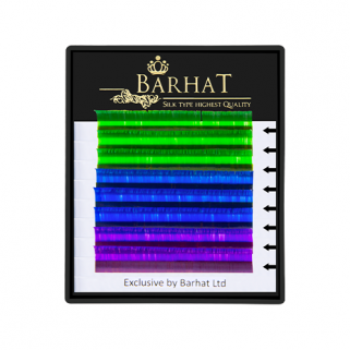 Ресницы Barhat COLOR MIX  (8 линий)